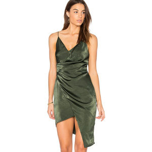 StyleStalker Women's Green Asymmetrical Dress